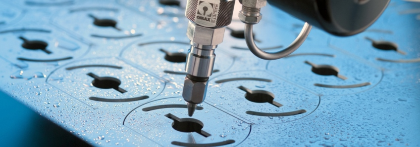 Water jet cutting extends manufacturing range